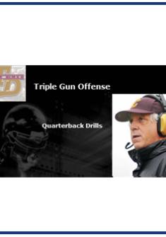 Triple Gun Quarterback Drills